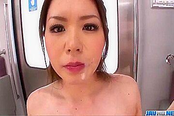China Mimura fucked hard in public tranport