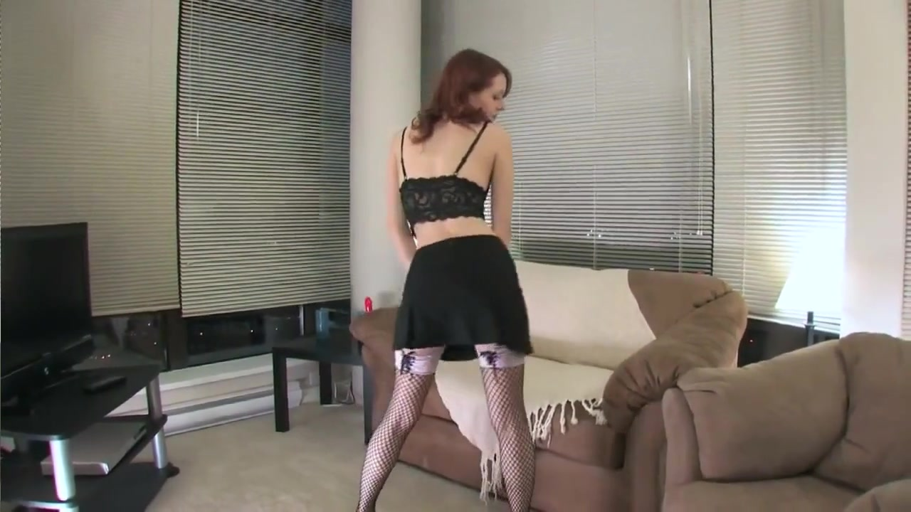 Beautiful Skinny Student In Black Stockings