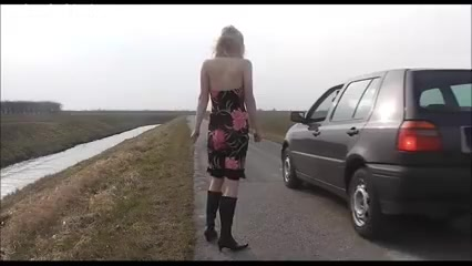 Blonde Teen Fucks In The Car And Takes Facial