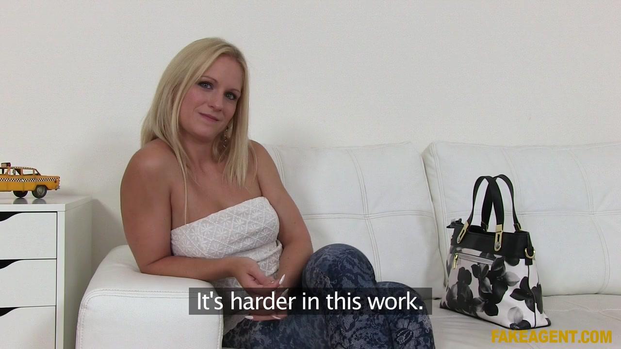 Rossella Visconti In Incredible Natural Tits Blonde Fucks For A Job - Fakeagent