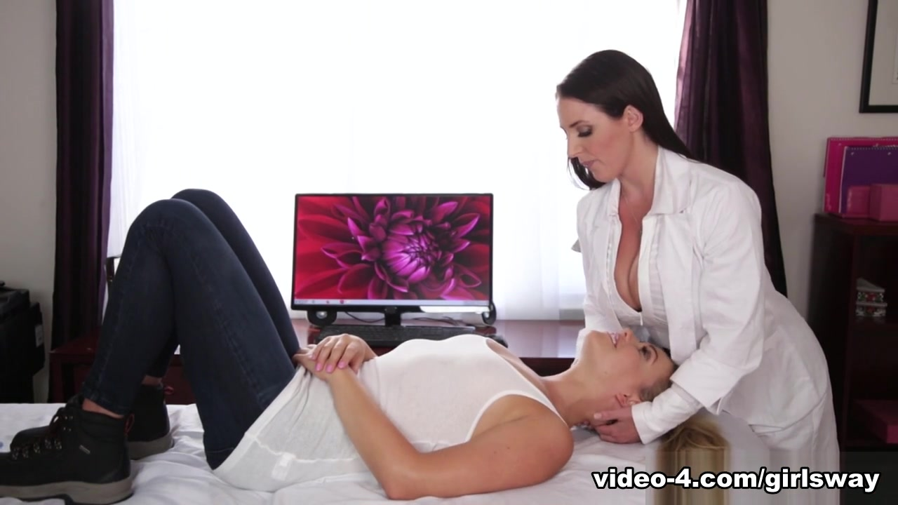 Mia Malkova & Angela White In The Chiropractor Part One - Girlsway