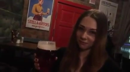 After Drinking A Beer, She Wanted To Blow A Dick