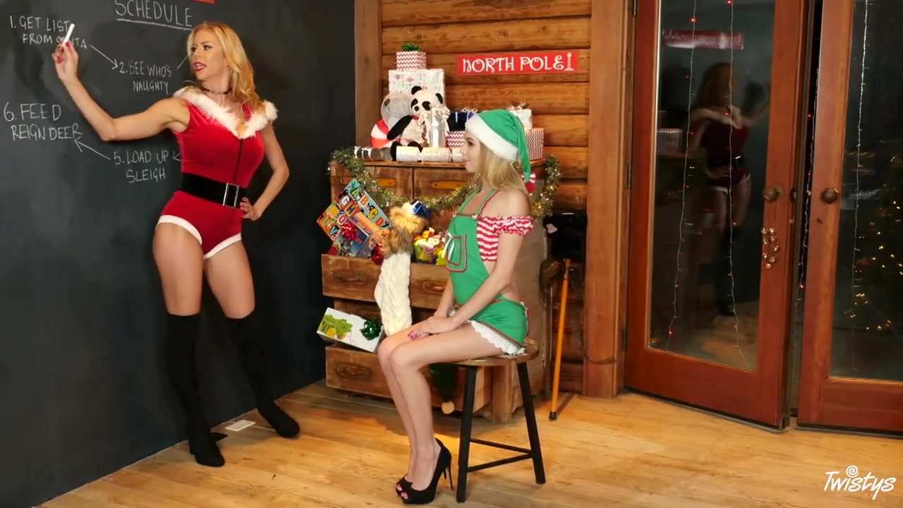 Alexis Fawx & Angel Smalls In Mrs.claus' Little Helper