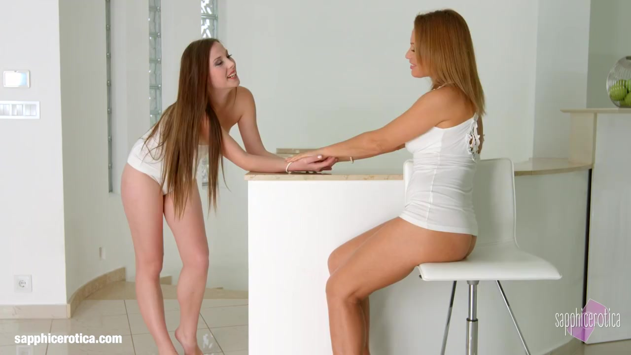 Strap On To Engage In Sapphic Erotic Sensual Erotic Lesbian Porn With Sylvia Lauren And Chloe Celestine