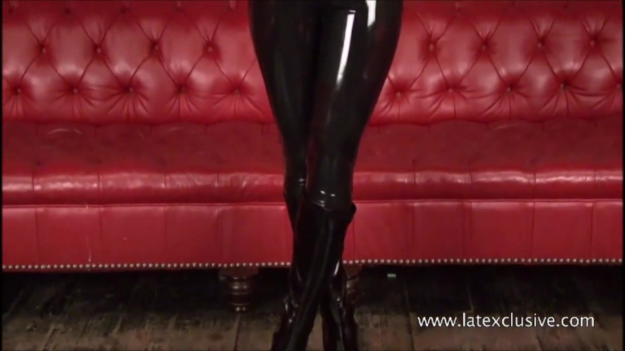 Sexy Blonde Fetish Babe Alessandras Wearing Latex And Shiny Rubber Kink From Booty Sweetheart In Softcore Solo