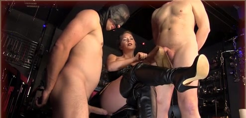 Mistress Makes Slave Suck Dick