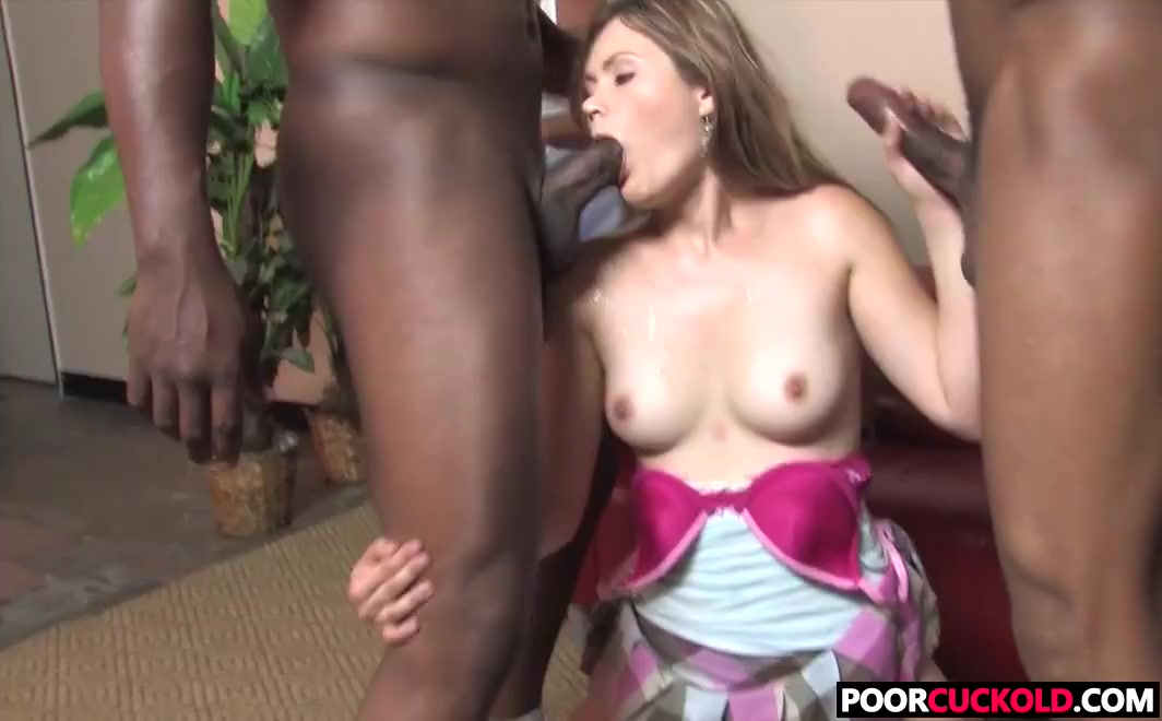Poor Cuckold Watching Interracial Threesome With His Wife Marina Maywood