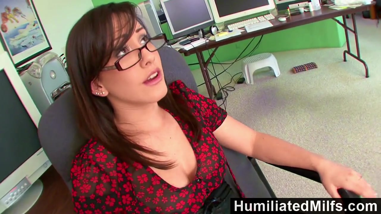 Humiliated Milfs Jennifer White Bent Over The Office Chair Bent