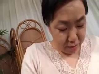 Mature Granny Japanese Masturbates