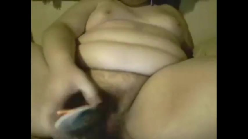 18Yo Fat Masturbate With Hairbrush