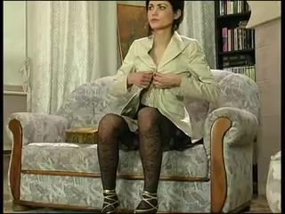 Russian In Old-Fashioned Stockings Dildo Masturbate And Fucked