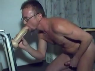 Harri Lehtinen Loves To Play Doggie With His Kong Dildocock Doggie!