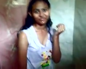 Legal Age Teenager Indian In The Shower With Her Bf