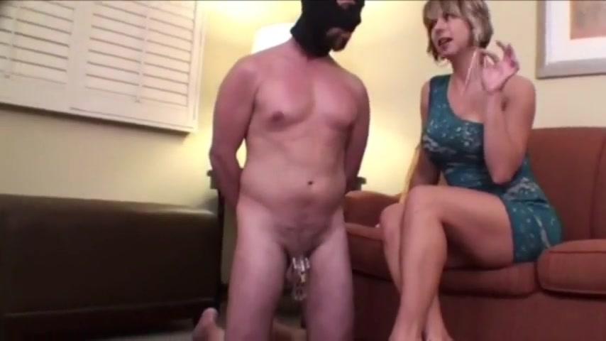 Chastised Heel-Worshiping Slave Teased And Kept Locked