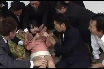 Japanese Sweet Girl Gangbang