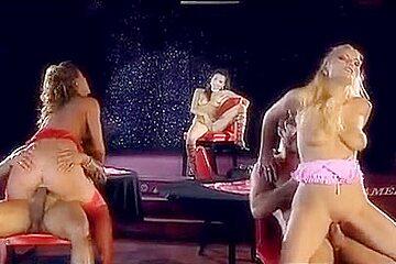 Hottest pornstars Sarah James, Janet Joy and Elinor Gasset in exotic group sex, blowjob sex movie