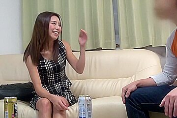 Exotic Japanese chick Suzuka Asai, Madoka Hitomi in Incredible couple, wife JAV scene