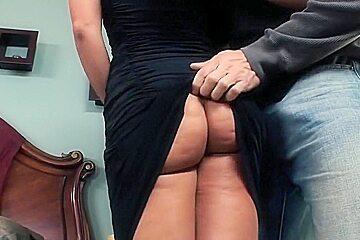 Exotic pornstar Lisa Ann in amazing facial, blowjob sex clip