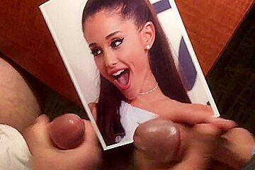 Ariana Grande Double Cum Tribu