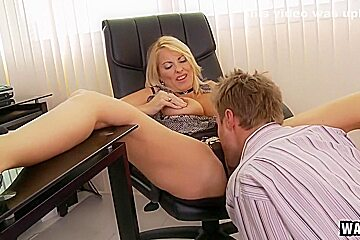 Boss Lady Getting Her Junk Licked