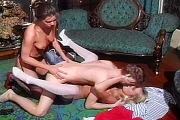 British mother I'd like to fuck Nici Stirling three-some in nylons