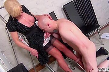 Joanna Jet takes another male home, luring him in with her big titties