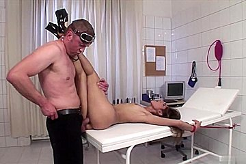 BDSM pussy examination