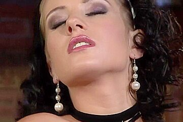 Incredible pornstar Leony Dark in crazy lingerie, brunette adult movie