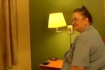 Fat granny fucks bbc