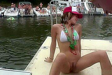 Horny pornstar in amazing brunette, outdoor porn clip