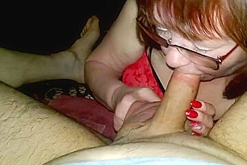 Wife sucking me off blowjob and wank