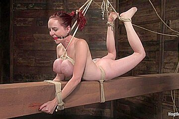Mz Berlin in Red Head With Massive Huge Tits?Then It Must Be Berlin. We Love A Girl Who Loves Bondage. - HogTied