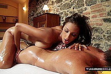 LaSublimeXXX Kitty Jane gets fucked after oiled massage