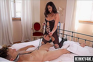 Natural tits pornstar bondage with cum in mouth