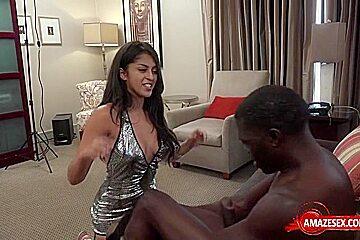 Hot pornstar interracial with creampie