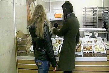 Little European lesbians licking and fingering