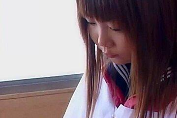 Asian Teacher Succumbs to Schoolgirl Feet and Ass