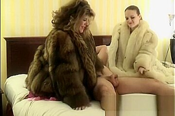 Jerking Him Off Wearing Fur