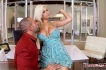 Big tits pornstar office sex and cumshot