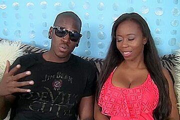 Fuckswipe.com - Ebony babe takes in a BBC
