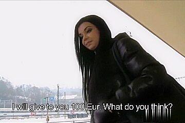 Hot European Girl Fucks For Money