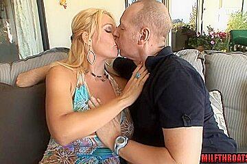 Big tits mature blowjob with cumshot