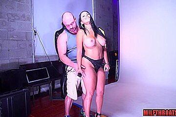 Big tits milf hard anal with cumshot