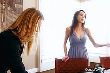Classy Milf With Big Tits Gets Dirty With Hot Brunette - CougarsandTeens