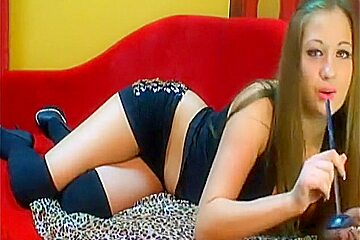 Sexy and slutty Russian webcam girl (private show 03)