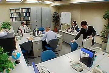 Japanese Office Lady Gets Fucked By Two