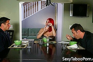 Classy redhead gets her pussy pounded