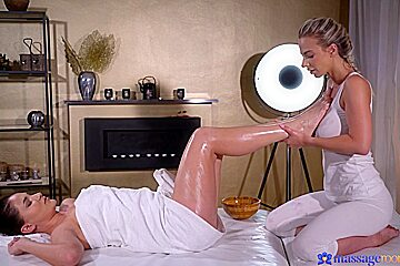 Ellen Betsy & Nathaly Cherie in European Babes Sensual Face Sitting - MassageRooms