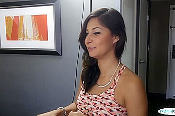 Real casting babe bounces on producers dick