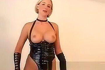 Desirae wife as naughty dominatrix spanks and fucks
